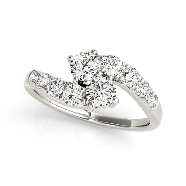 Roof Jewelers Better Together 14k White Gold Diamond Engagement