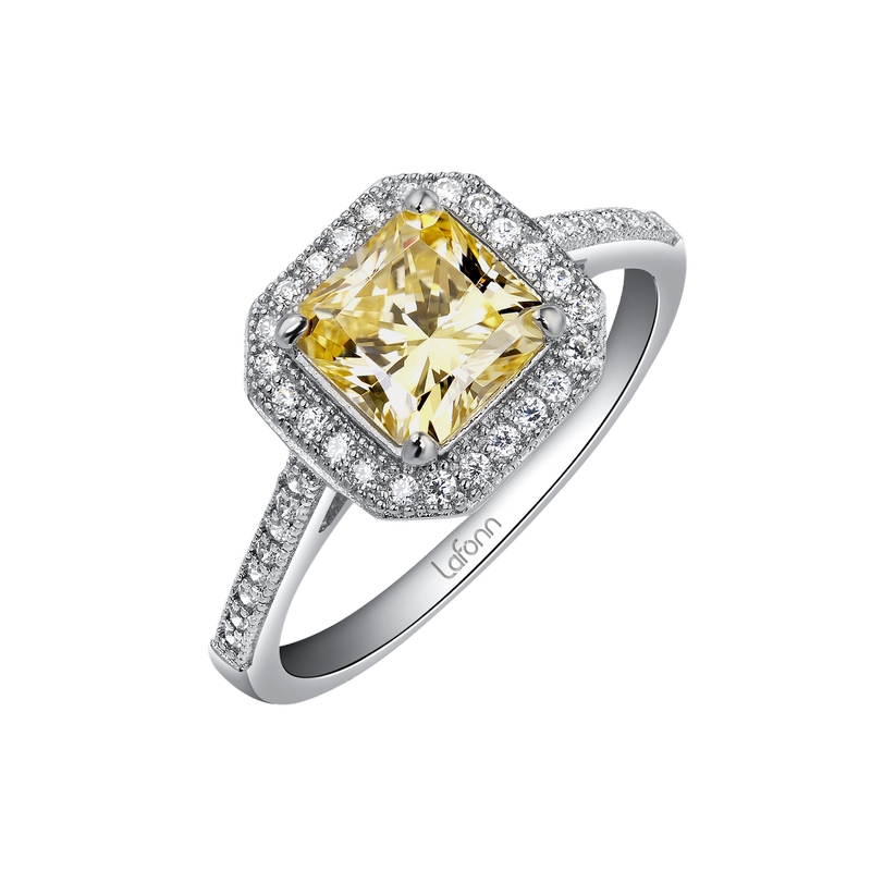 Sterling Silver Simulated Diamond Engagement Rings