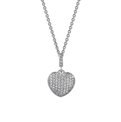 Lafonn Simulated Diamond .74CTW Heart Necklace
