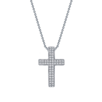Lafonn Simulated Diamond Cross Necklace