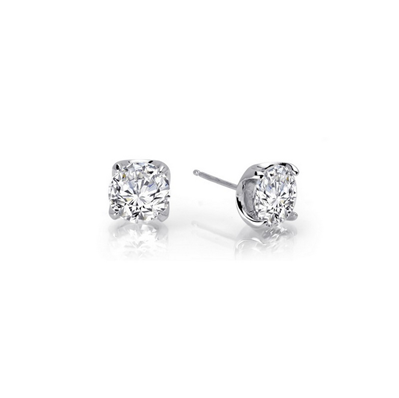 Lafonn Sterling Silver 1.60TW CZ Stud Earrings