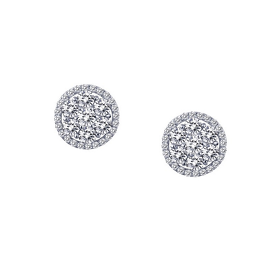 Lafonn Sterling Silver .86TW CZ Stud Earrings