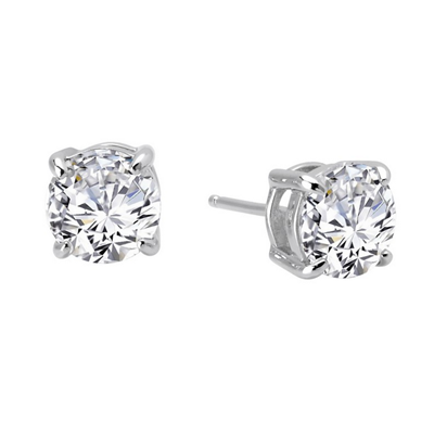 Lafonn Sterling Silver CZ Stud Earrings
