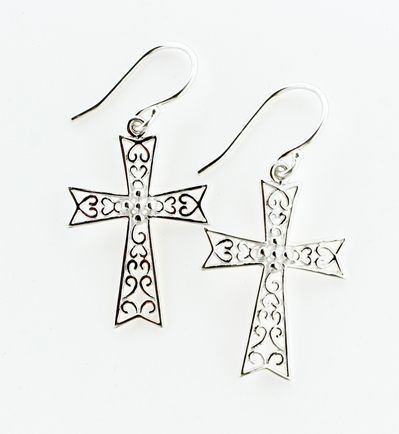 Southern Gates Cross Earrings