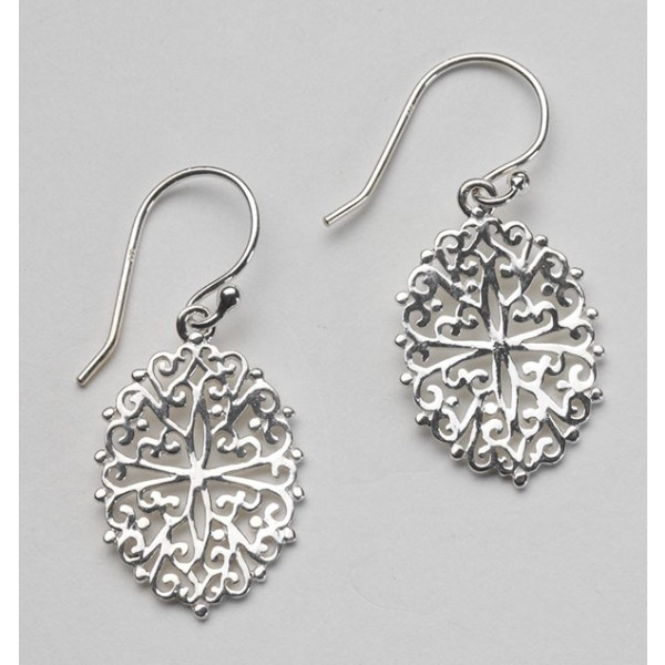 Southern Gates Oval Filigree Earrings