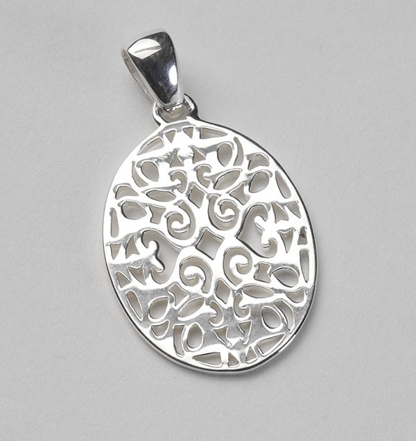 Southern Gates Oval Scroll Pendant