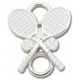 Sterling Silver Tennis Rackets Lestage Clasp