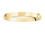 Ladies 3MM 14K Yellow Gold Wedding Band