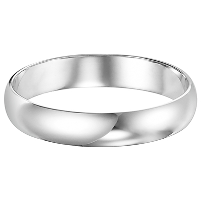 14 Karat White Gold 5MM Wedding Band