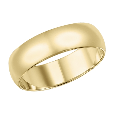 6MM 14KY Gold Wedding Band