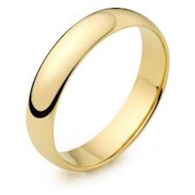 5MM 14K Yellow Gold Wedding Band