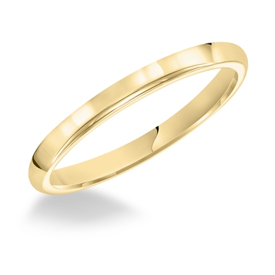 Ladies 2.5MM 14K Yellow Gold Comfort Fit Wedding Band