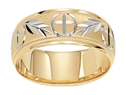 14KTT 8MM Wedding Band