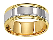 14K 8MM Comfort Fit Carved Wedding Band