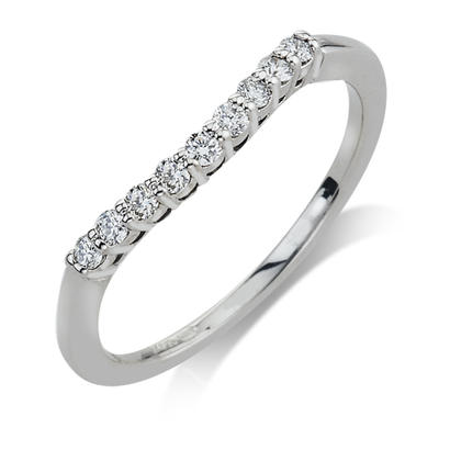 .18CTW 14K White Gold Diamond Wedding Band