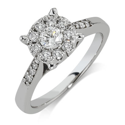 5/8CTW 14K White Gold Diamond Engagement Ring