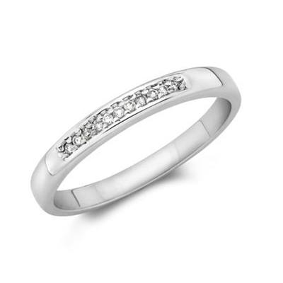 10KW .055CT Diamond Wedding Band