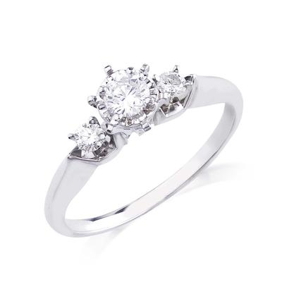 1/3CTW 10KW Diamond Engagement Ring