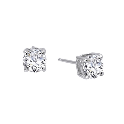 Lafonn Sterling Silver 2CTW CZ Stud Earrings