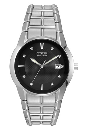 Citizen Eco-Drive Stainless Steel Mens Bracelet Watch
