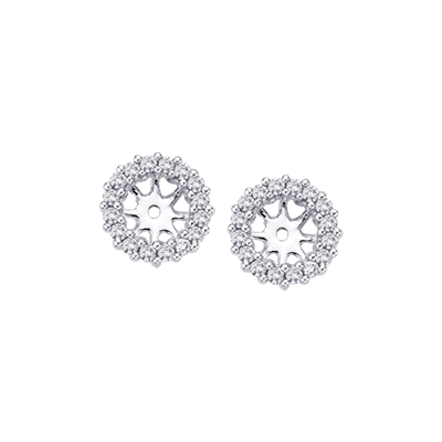 14K White Gold 1/4 ct. Diamond Earrings Jacket