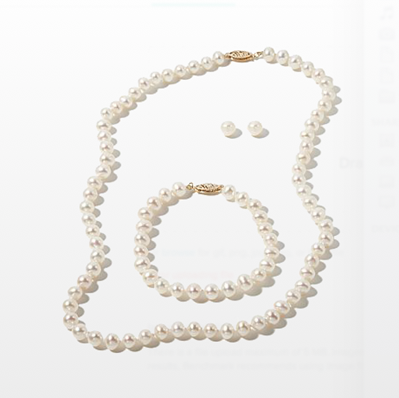 Akoya pearl set 6-6.5mm