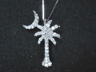 Palmetto Tree Jewelry 45ctw Diamond Palmetto Tree With