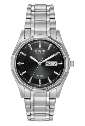 Citizen Eco-Drive Stainless Steel Men%27s Bracelet Style Watch