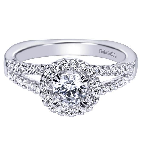 .72CTW White Gold Diamond Halo Engagement Ring